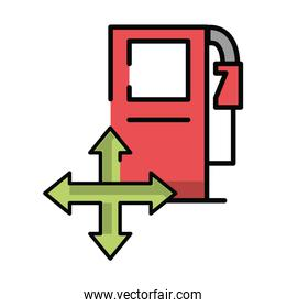 fuel oil station service icon