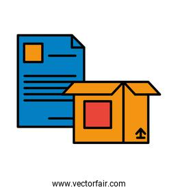 paper document file with box carton