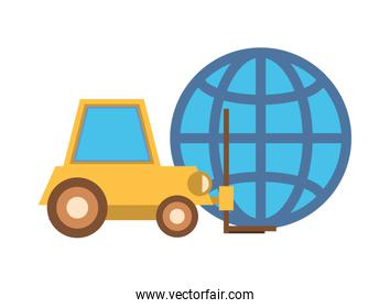 forklift vehicle service with sphere browser