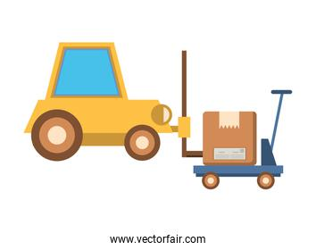 forklift vehicle service with box