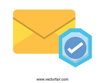envelope mail with check symbol