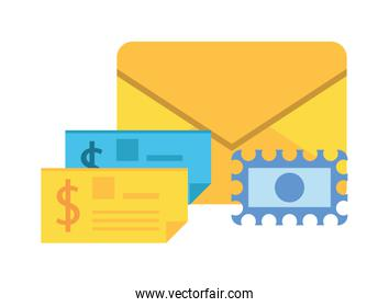 check banknote paper isolated icon