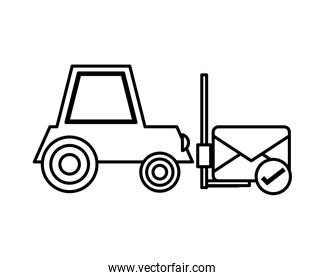 forklift vehicle service with envelope line style