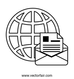 sphere planet browser with postal service