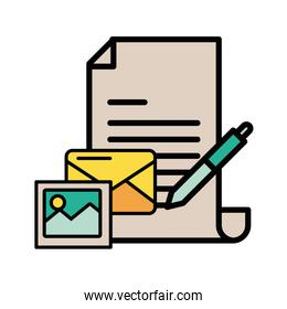 envelope mail with picture file postal service