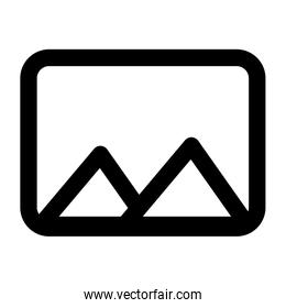 picture file format isolated icon