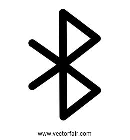 bluetooth user interface isolated icon