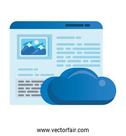 cloud computing server with webpage template