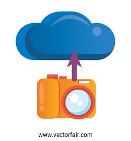 cloud computing with camera photographic