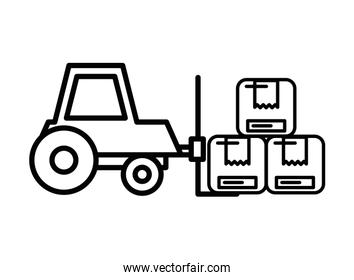 forklift vehicle service isolated icon