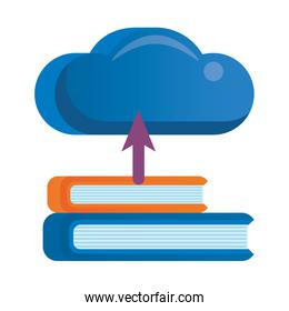 cloud computing server with books technology