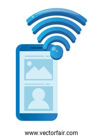 smartphone electronic device with wifi signal