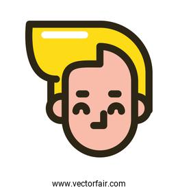 head man face character icon