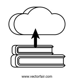 isolated cloud computing server with books technology