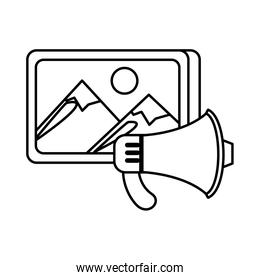 picture file format with megaphone