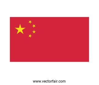 flag China patriotic isolated icon