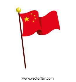 flag China patriotic in pole