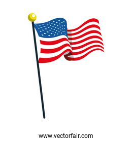 united states american flag in pole