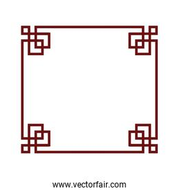 chinese culture elegant frame icon