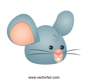 cute little mouse head character