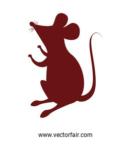 cute little mouse silhouette icon