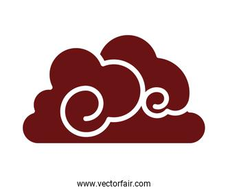chinese cloud decorative isolated icon