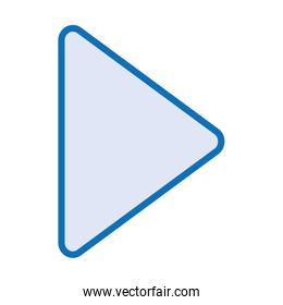 media player play button isolated icon