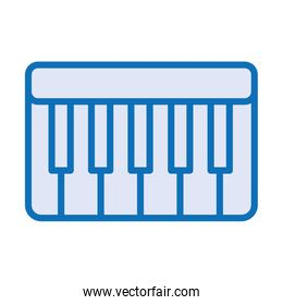 piano instrument musical isolated icon