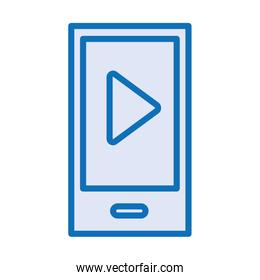 smartphone device with play button