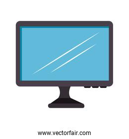 computer monitor device isolated icon