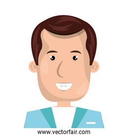 male paramedic avatar character icon