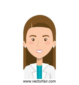 face of doctor female isolated icon