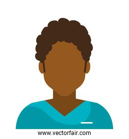 male afro paramedic avatar isolated icon