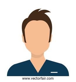 male paramedic avatar isolated icon