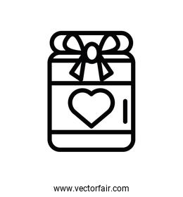 gift box present with heart love