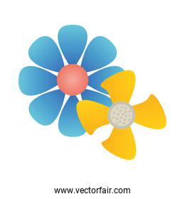 beautiful flowers plants isolated icon