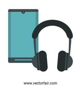 smartphone with earphones devices technology
