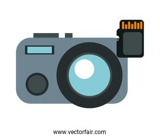 camera photographic device with sd card