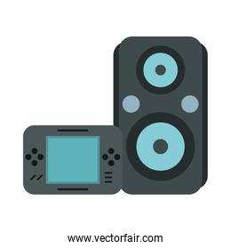 speaker audio music with video game