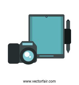 tablet device with camera photographic