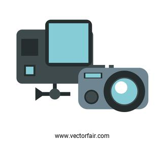camera photographic device with scanner facial