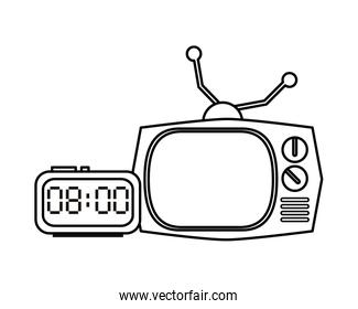 television appliance with digital watch