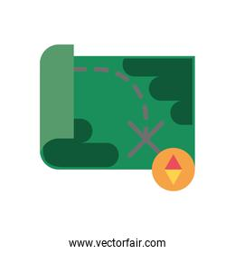 paper map military force isolated icon