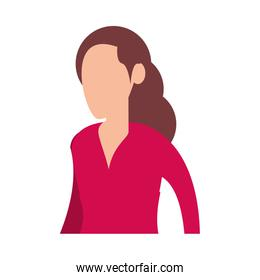 young woman avatar character icon