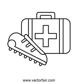 medical kit handle with sport shoe