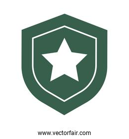shield military force isolated icon