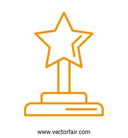 trophy award price with star