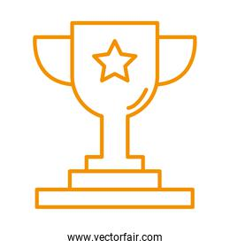 trophy cup award price isolated icon