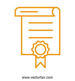 certificate award victory isolated icon