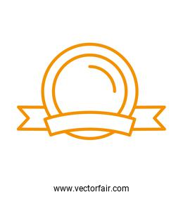 seal stamp award victory isolated icon